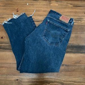 Levi's 505 Dark Wash Cut Off Jean